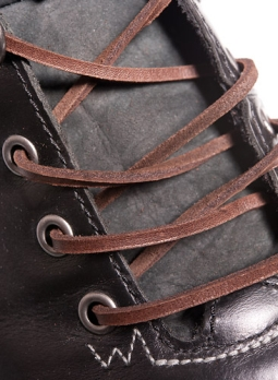 GENUINE LEATHER DARK BROWN SHOE BOOT LACES 182cm x 3mm  5bba9ce60fd7
